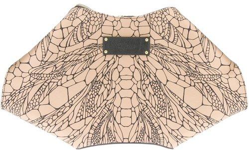 Alexander McQueen 'De-manta' clutch