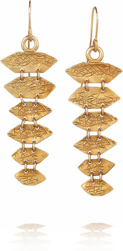 Yves Saint Laurent Black Mamba gold-plated drop earrings
