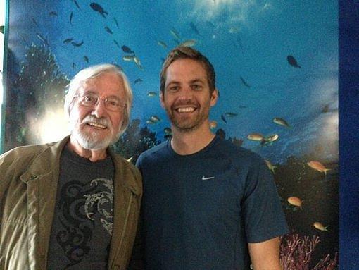 Paul Walker met French explorer and environmentalist Jean-Michel Cousteau. Source: Twitter user RealPaulWalker