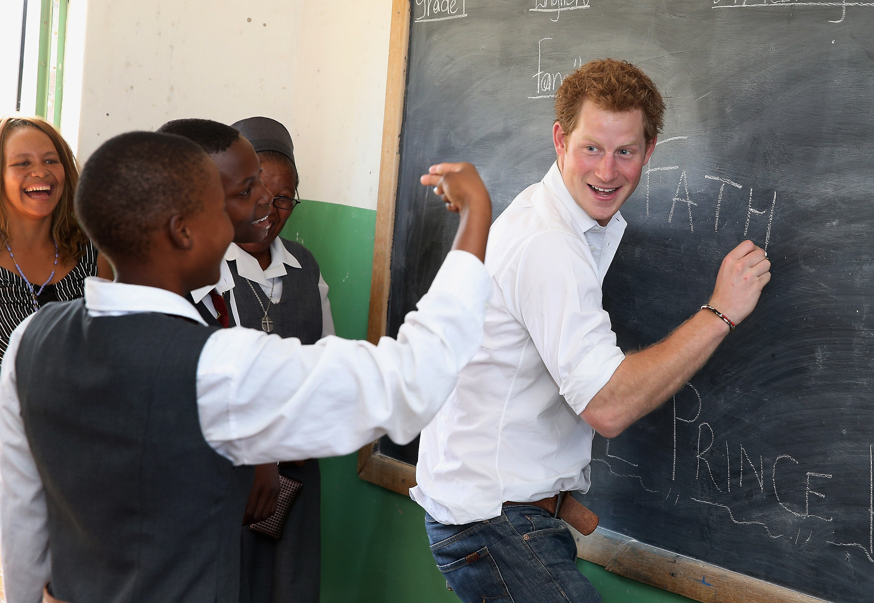 Prince Harry learned sign language.