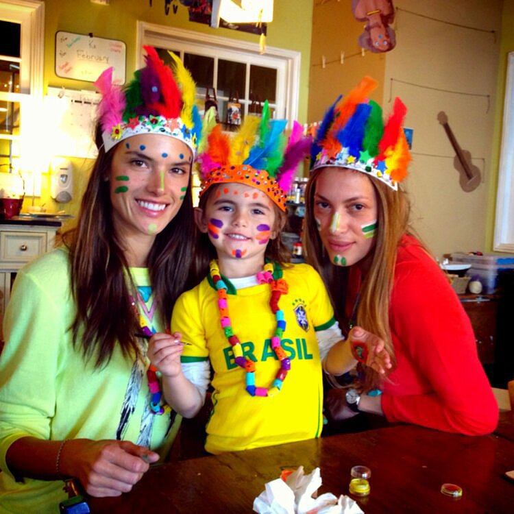 Alessandra Ambrosio had a Brazilian celebration with her daughter, Anja, and a friend. Source: Twitter user AngelAlessandra