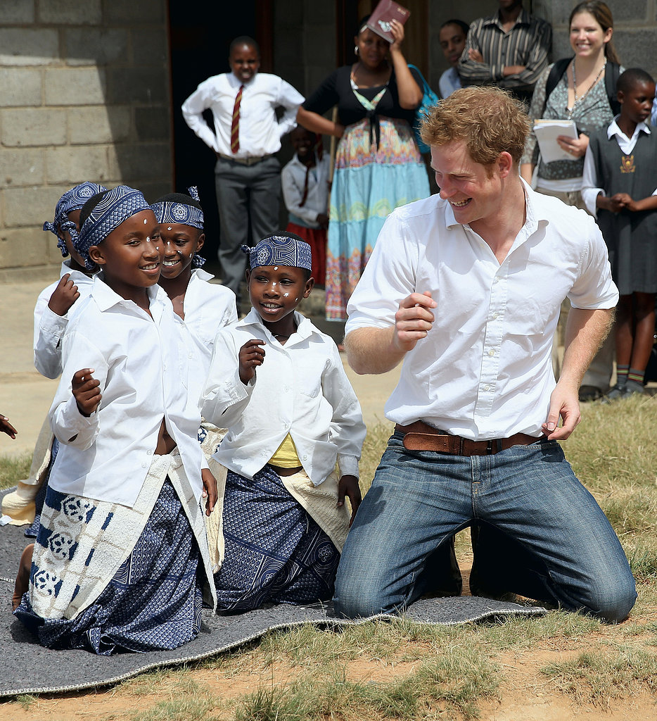 Prince Harry visited the Kananelo Centre for the Deaf in Lesotho.