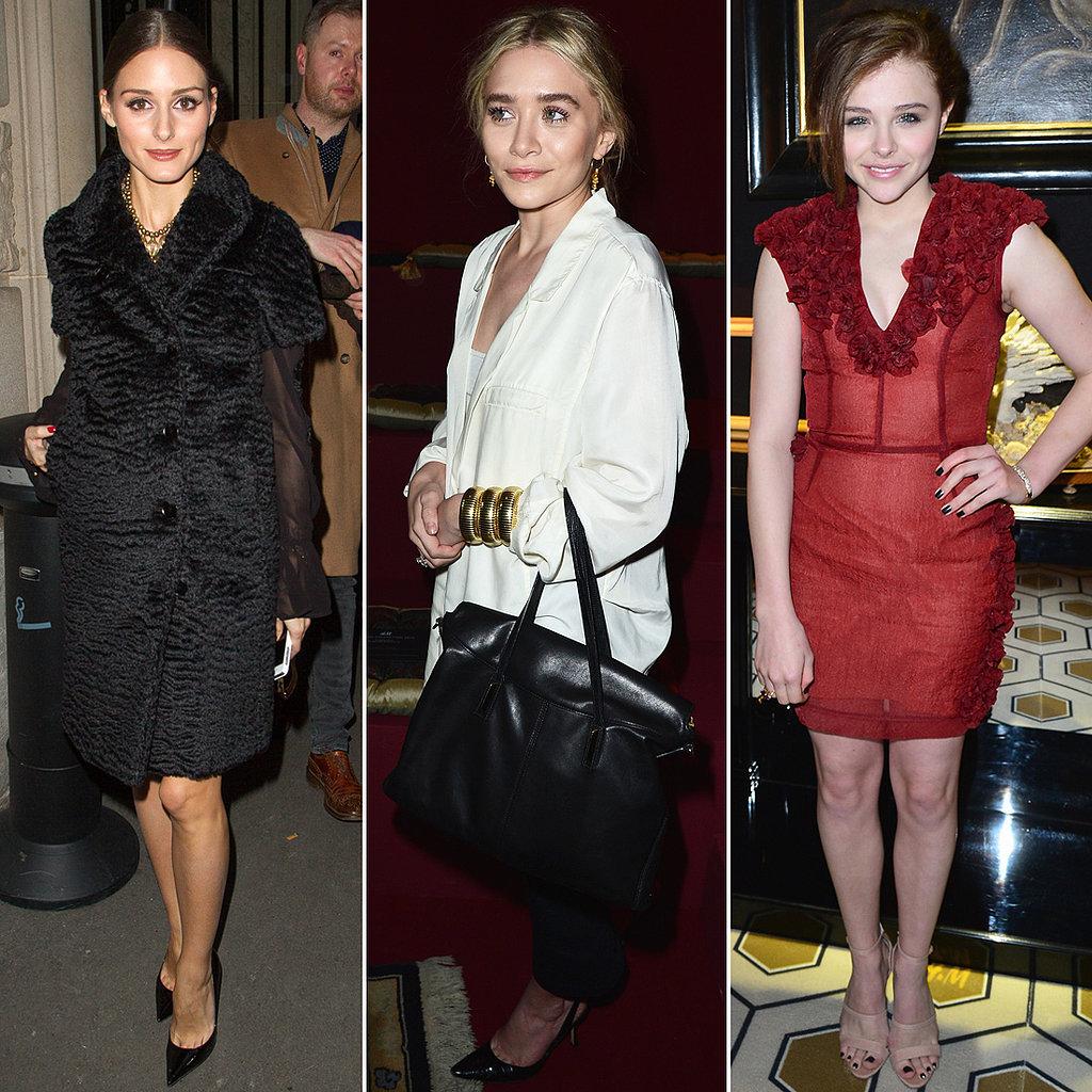 Front-Row Darlings Olivia, Ashley, and Chloë Kick Off Paris Fashion Week