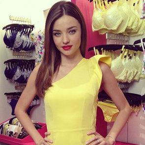 Miranda Kerr in Yellow Dress For Victoria's Secret (Video)