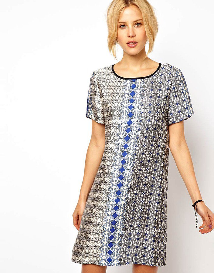 ASOS's T-Shirt Dress in Tile Scarf Print ($76) serves as a great work-to-weekend piece. Casual Friday, anyone?
