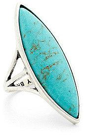 Turquoise Elongated Set Stone Ring