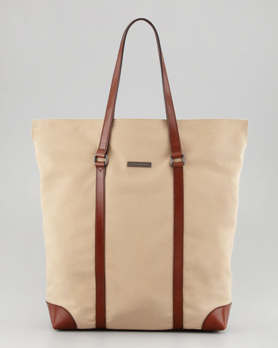Burberry Men's North-South Twill Tote Bag