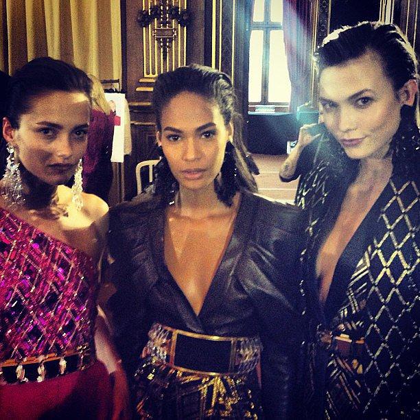Karlie Kloss gave us a sneak peek of what was happening backstage at Paris Fashion Week. Source: Instagram user karliekloss