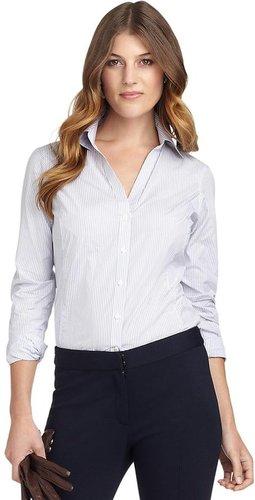 Luxury Fitted Stripe Dress Shirt