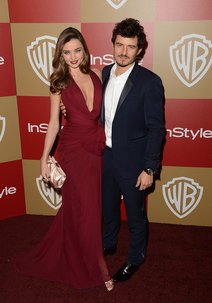 Miranda Kerr and Orlando Bloom made a hot couple as they arrived at a Golden Globes party.