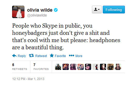 Olivia tweets what we're all thinking.
