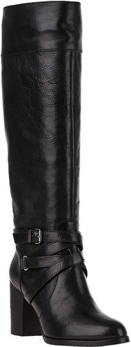 7 FOR ALL MANKIND Serita Riding Boot Black Leather