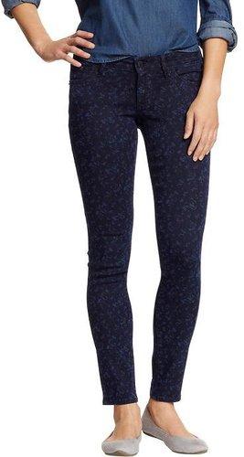 Women's The Rockstar Floral-Print Skinny Jeans