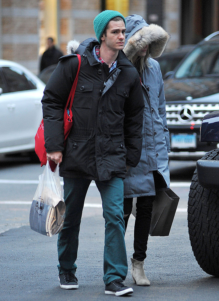 Andrew Garfield and Emma Stone are in town filming the newest Spider-Man film.