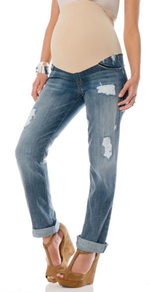 Perfect for weekends and afternoons strolling around town, A Pea in the Pod's SOLD Design Lab Secret Fit Belly Cuffed Maternity Capri Jeans ($130) feature the season's faded and worn-in denim look, while the cuffed legs make them great for warmer weather.