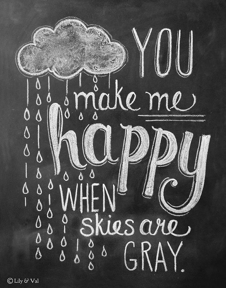 You Make Me Happy Rain Cloud Print
