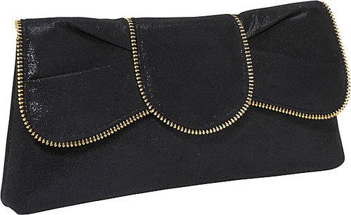 Magid Zipper edge bow clutch