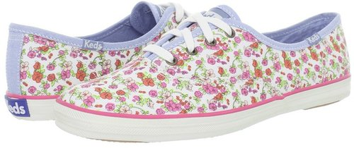 Keds - Champion Floral (White Twill) - Footwear