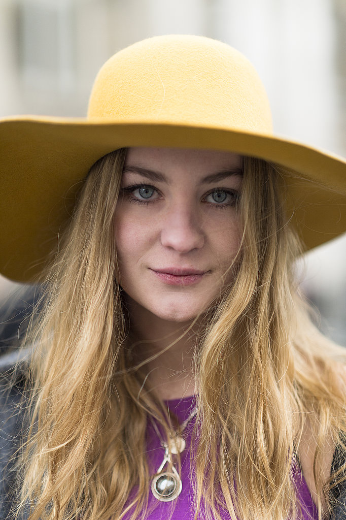A yellow cab and loads of mascara made Tilde Rolder's style simple and chic. Source: Le 21ème   Adam Katz Sinding