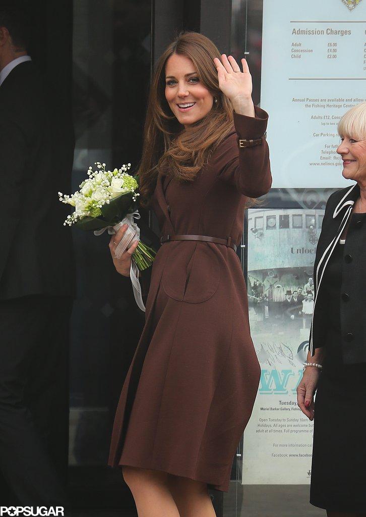 Kate Middleton toured Grimsby, England.