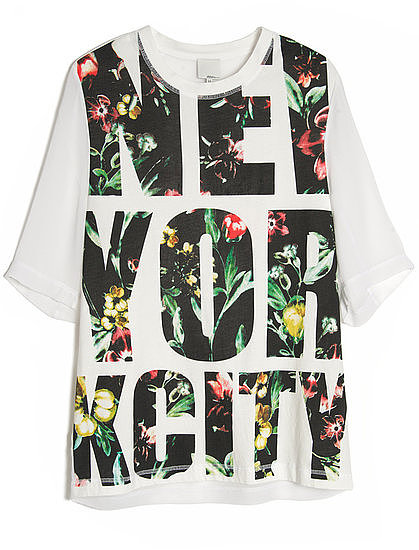 The New York City Tee ($150) from 3.1 Phillip Lim marries Spring-feeling florals with a classic nod to street cool, making it the perfect t-shirt to fashion some killer street style.