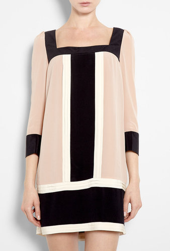 ALICE by Temperley Rose Colour Block Silk Tunic Dress