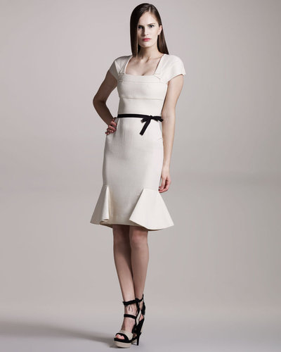 Roland Mouret Annabelle Crepe Dress, Cream