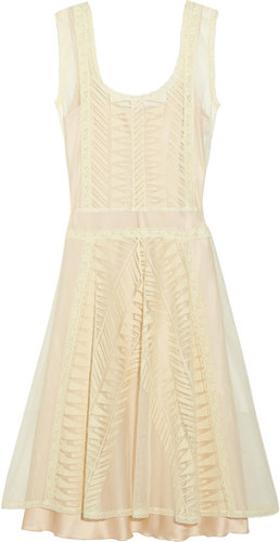 Philosophy di Alberta Ferretti Lace and cotton-tulle dress