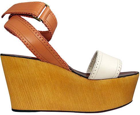 Lanvin Ivory & Rose Wedge Sandal