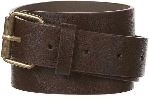 Dark Brown Slim Casual Belt