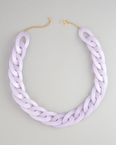Kenneth Jay Lane Resin-Link Necklace, Lavender
