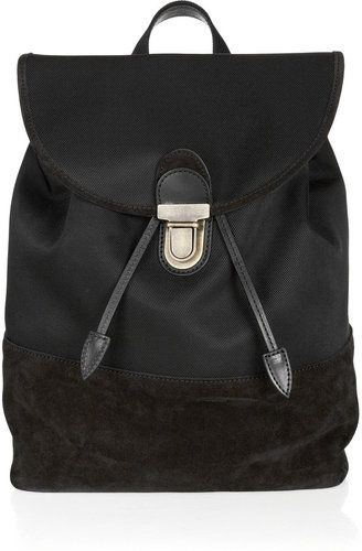 Acne Morab nylon and suede backpack