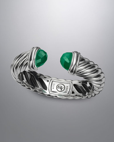 David Yurman 14x7mm Green Onyx Waverly Bracelet
