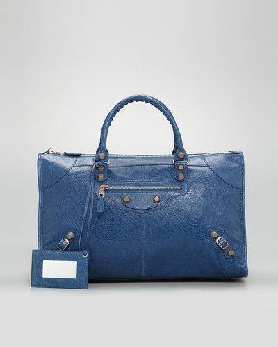 Balenciaga Giant 12 Rose Golden Work Bag, Blue Cobalt