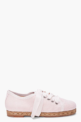 LANVIN Light Pink Espadrille Sneakers