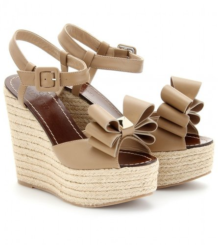 Valentino ESPADRILLE LEATHER WEDGES
