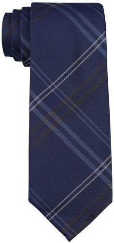 Calvin Klein Mens Calvin Klein Tie, Skinny Overlay Grid