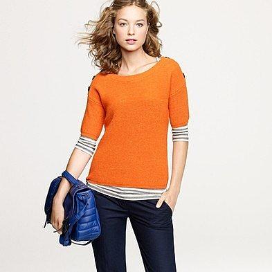 Button box sweater