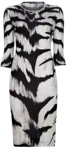 Alexander McQueen zebra print dress