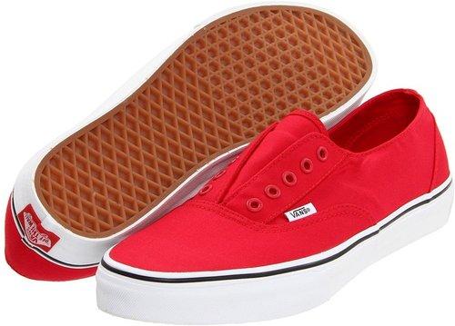 Vans - Era Laceless (Red/True White) - Footwear