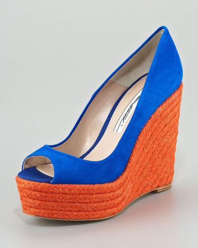 Brian Atwood Colorblock Espadrille Pump