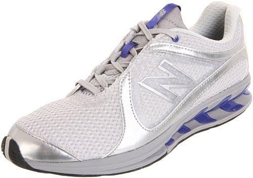 New Balance Women's WW855 Toning Shoe,Grey/Blue,8 D US