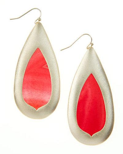 Kendra Scott Pink Agate Teardrop Earrings