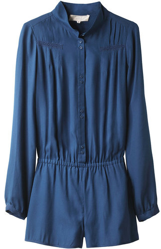 Vanessa Bruno Athé / Long Sleeved Silk Romper