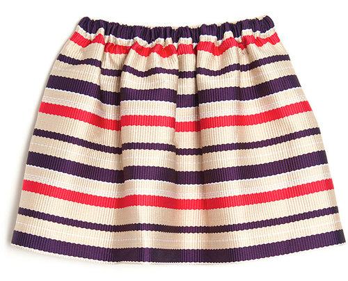 MSGM Stripe Flare Skirt
