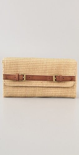 Club Monaco Betty Straw Clutch
