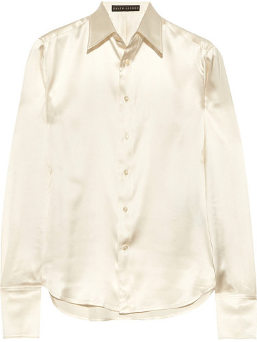 Ralph Lauren Black Label Rachel stretch silk-charmeuse shirt