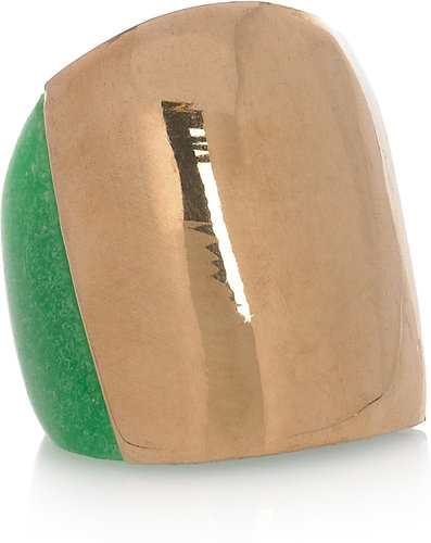 Marni Gold-tone and resin ring