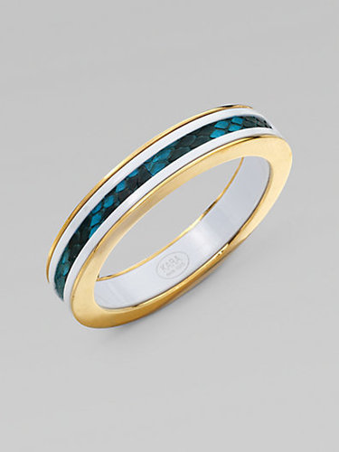 Kara by Kara Ross Python & Resin Bangle Bracelet/Narrow