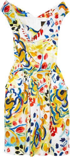 Vivienne Westwood Anglomania Marghi printed cotton dress